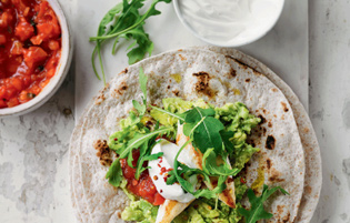 chicken and avocado fajitas