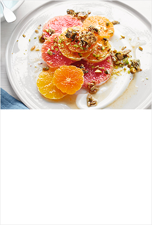 Citrus salad with seed & nut crunch