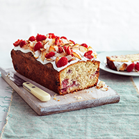 Coconut & raspberry loaf cake