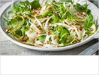 Shaved pear and fennel salad