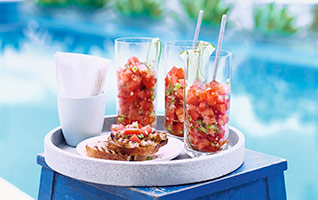 Bloody Mary bruschetta