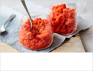 Tomato and red pepper granita
