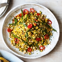 Charred-sweetcorn-and-green-beans