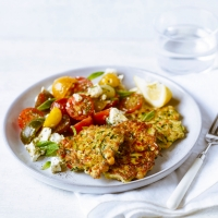 Courgette and chick pea fritters