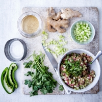 Gooseberry and cucumber relish