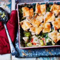 LOVE life chicken and leek patchwork pie