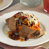 LOVE life Sweet jacket potatoes with vegetable chilli