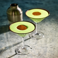 Mint chocolate avocado cocktail