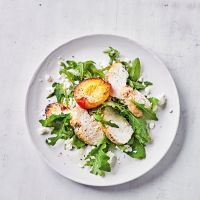 Peppered chicken, nectarine & feta salad