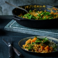 Red sweet potato dhal