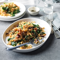 Spicy spinach & mixed bean couscous