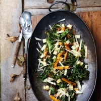 carrot, apple, kale salad