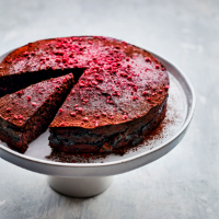 Chocolate & raspberry torte