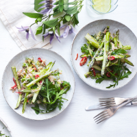 Crab and asparagus salad