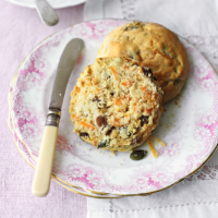 Carrot and sultana scones