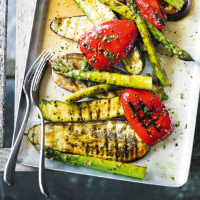 Marinated chargrilled vegetables
