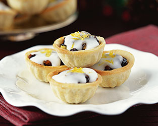 Mini Mince Pies with Lemon Icing
