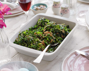 Chilli spiced greens