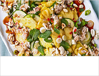 Thai-style pineapple, cucumber and crab salad
