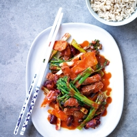 Chilli beef & broccoli stir fry