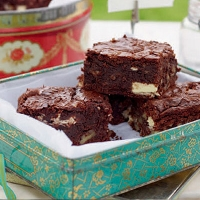 Double chocolate brownies with pecans