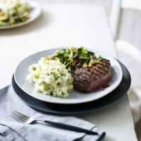 Griddled steak & wasabi mash