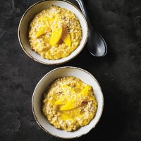 Mango & coconut brown rice pudding