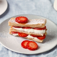 Strawberry and vanilla millefeuille